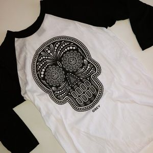 Obey Candy Skull Shirt XS